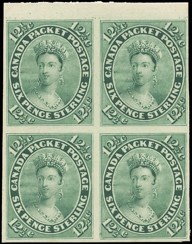 CANADA 1859  SG39 Proof 12½c blue-green