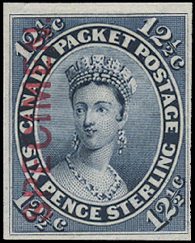 CANADA 1859  SG39 Proof 12½c grey-blue