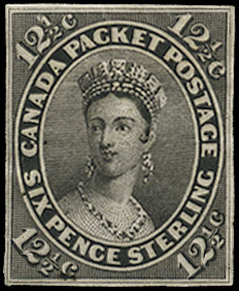 CANADA 1859  SG39 Proof 12½c black