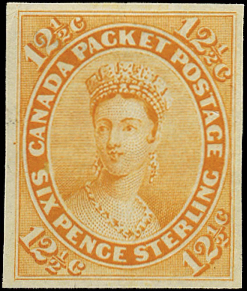 CANADA 1859  SG39 Proof 12½c orange-yellow