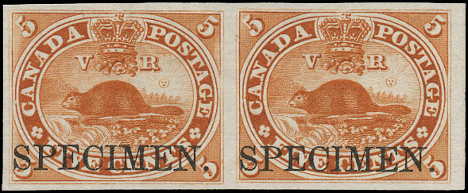 CANADA 1859  SG31 Proof 5c brown-red Beaver