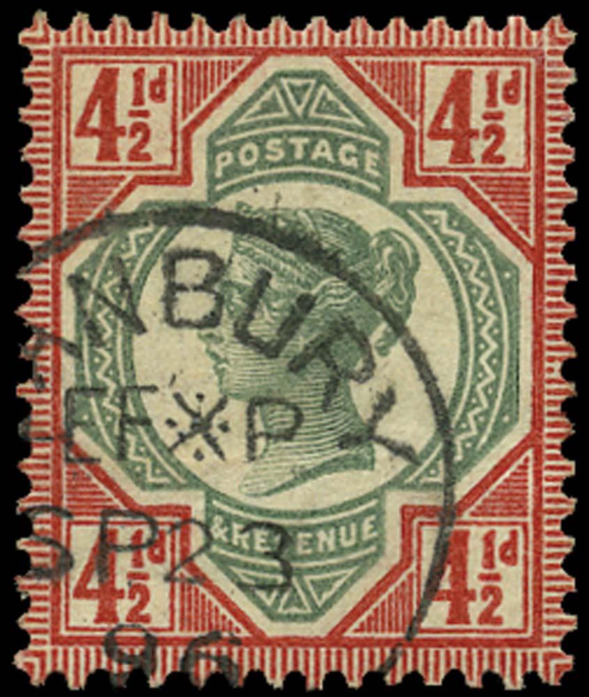 GB 1892  SG206 Used Banbury cds