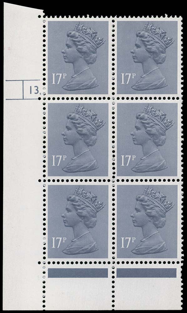 GB 1983  SGX952 Mint 17 Pin perf variety