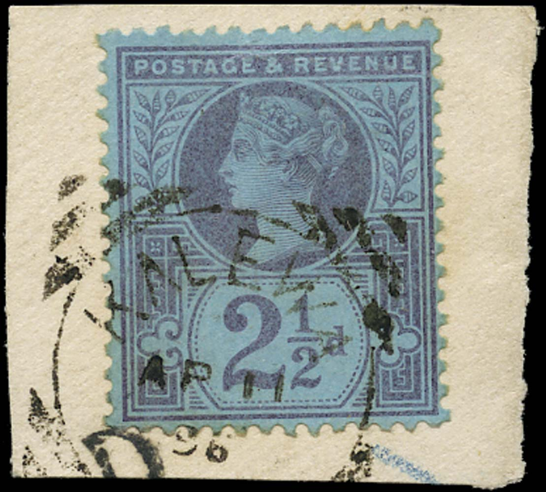 GB 1887  SG201 Used Kalewa Burma datestamp