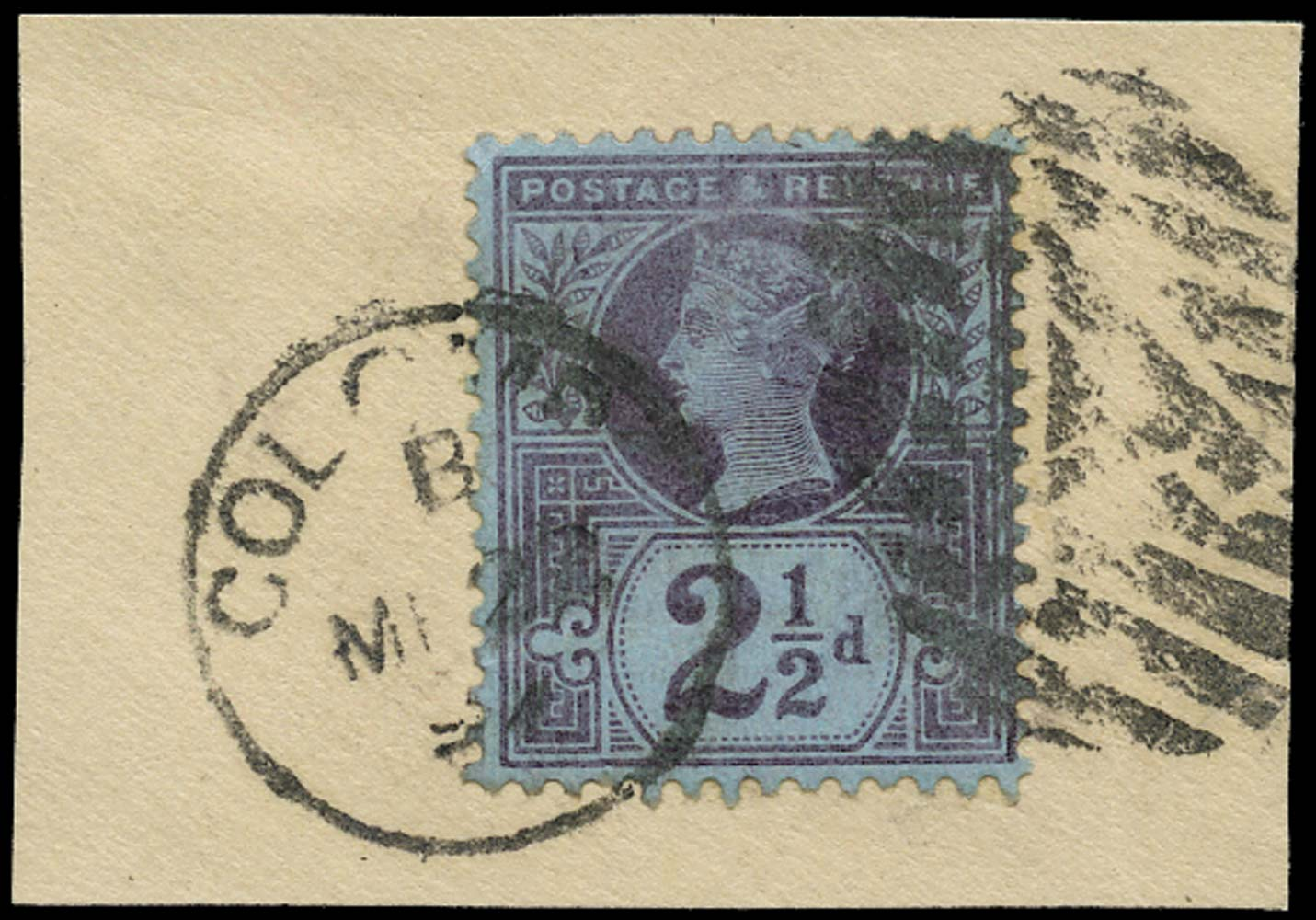 GB 1887  SG201 Used in Colombo, Ceylon