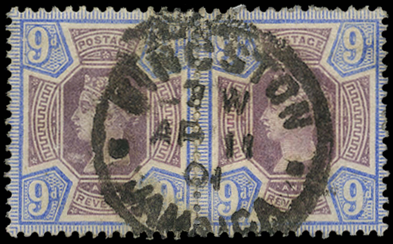 GB 1887  SG209 Used Kingston Jamaica cds