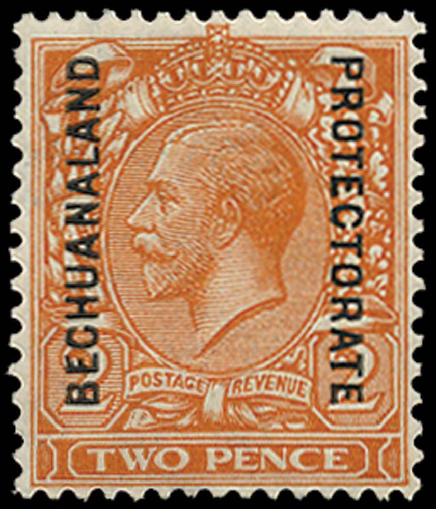 BECHUANALAND 1913  SG77 Mint 2d orange die II