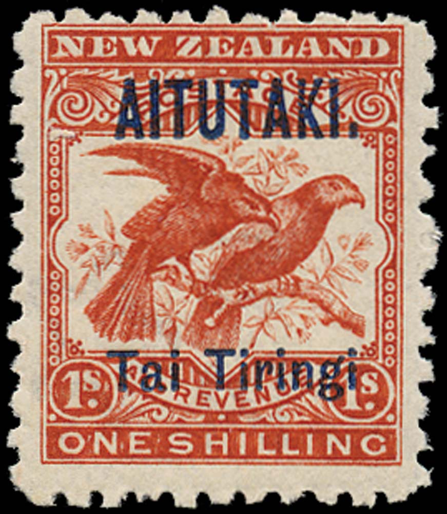 COOK IS - AITUTAKI 1903  SG7a Mint 1s birds variety No stop after Tiringi