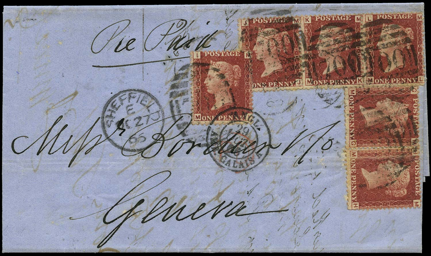 GB 1866  SG43 Pl.80 Cover