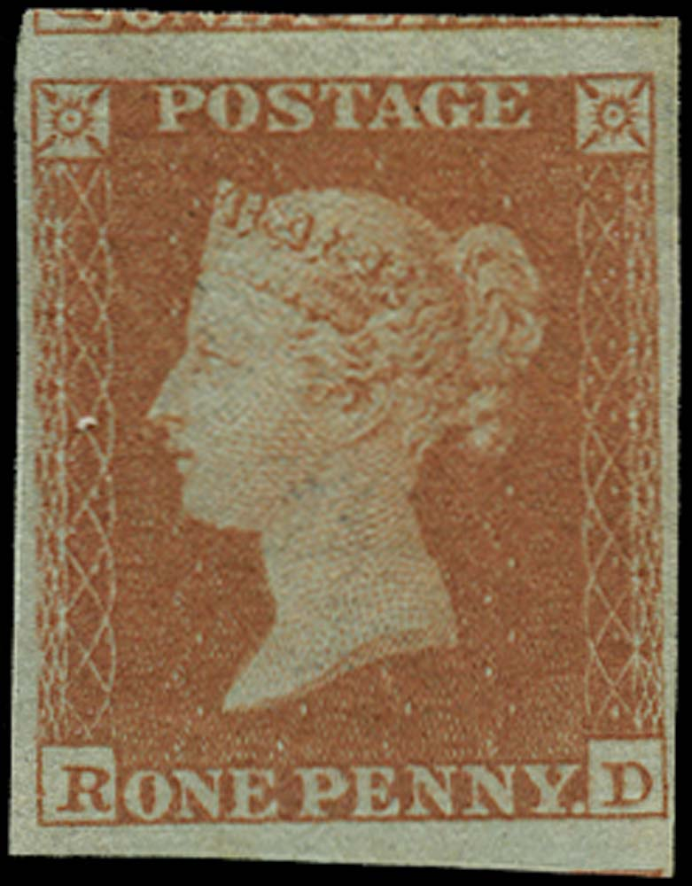 GB 1841  SG8 Pl.154 Mint (Alphabet II) U/M example lettered RD