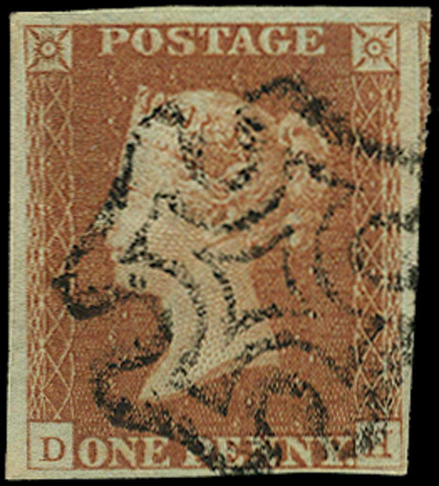 GB 1841  SG8 Pl.21 Used Black MC (DH)