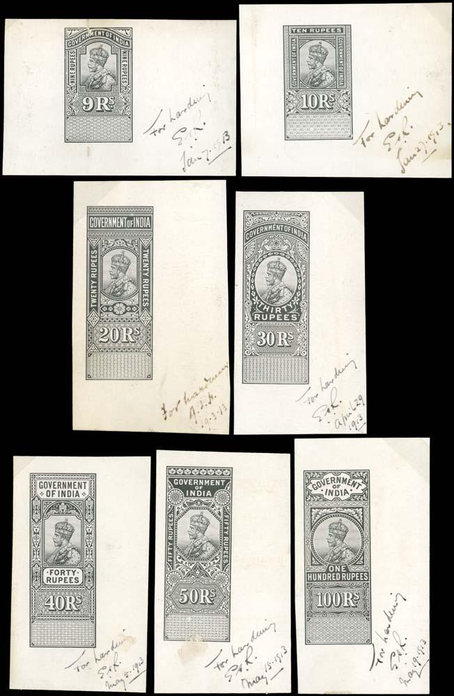INDIA 1912 Revenue