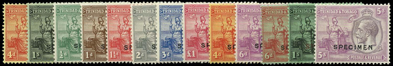TRINIDAD & TOBAGO 1922  SG216s/29s Specimen