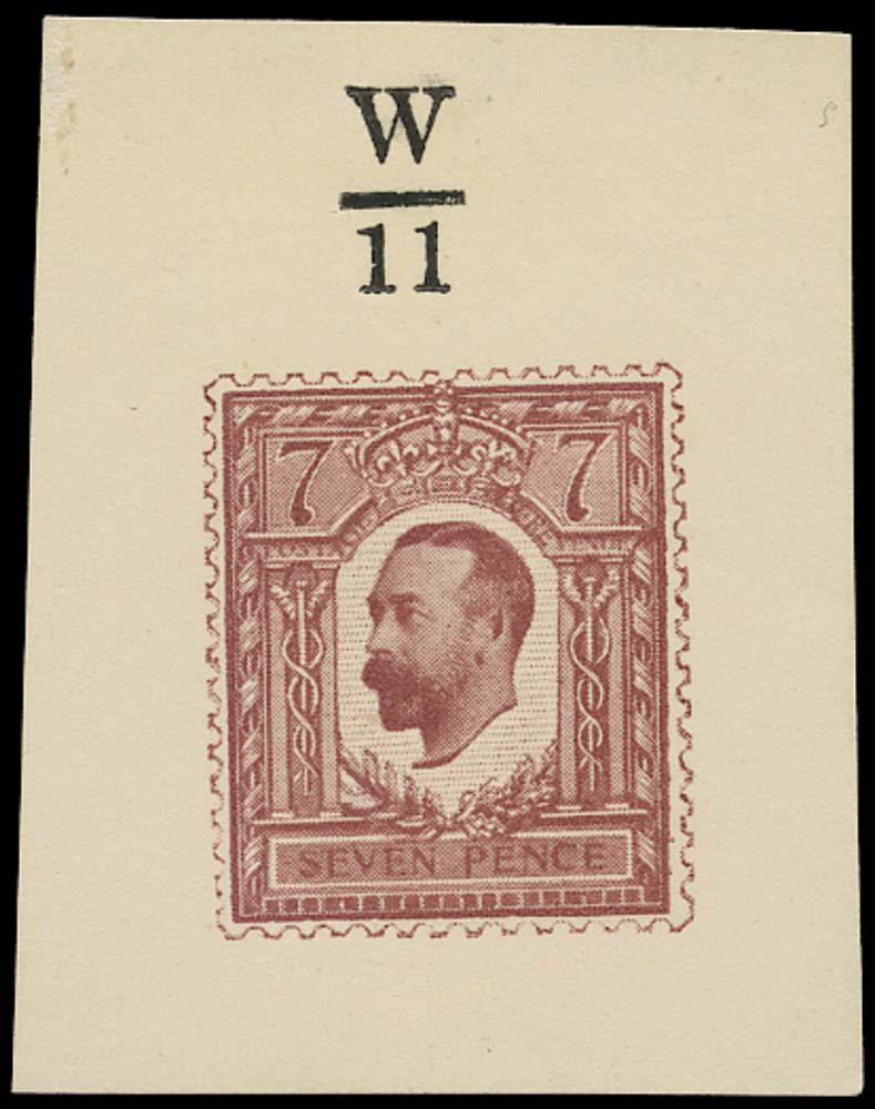 GB 1911 Essay 7d Henschel in purple