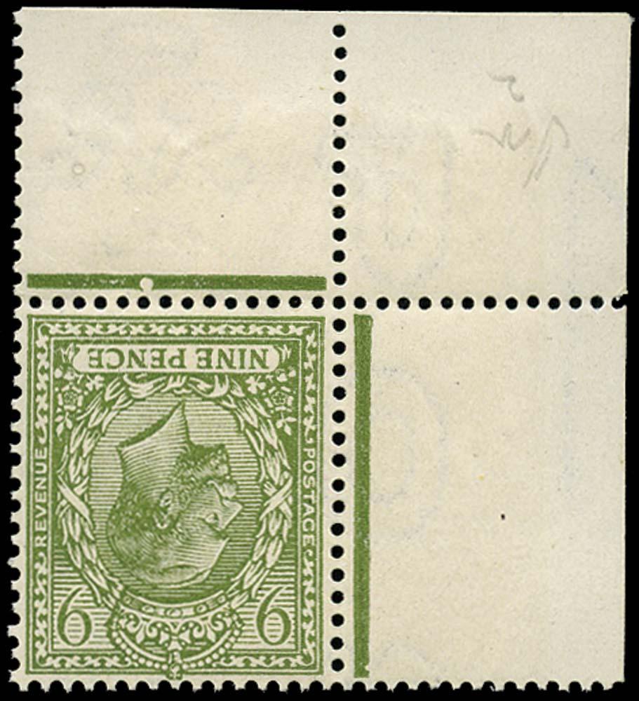 GB 1922  SG393awi Mint U/M o.g. wmk inverted example