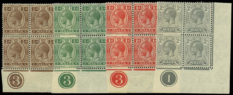 MALTA 1921  SG97/100 Mint
