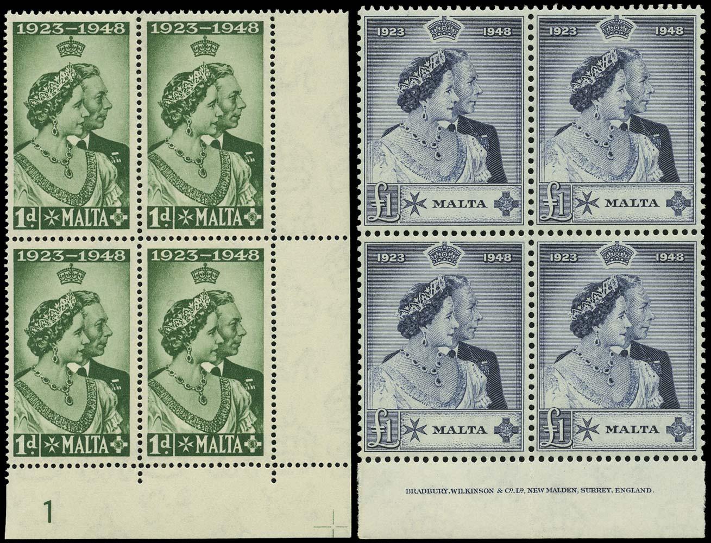 MALTA 1949  SG249/50 Mint