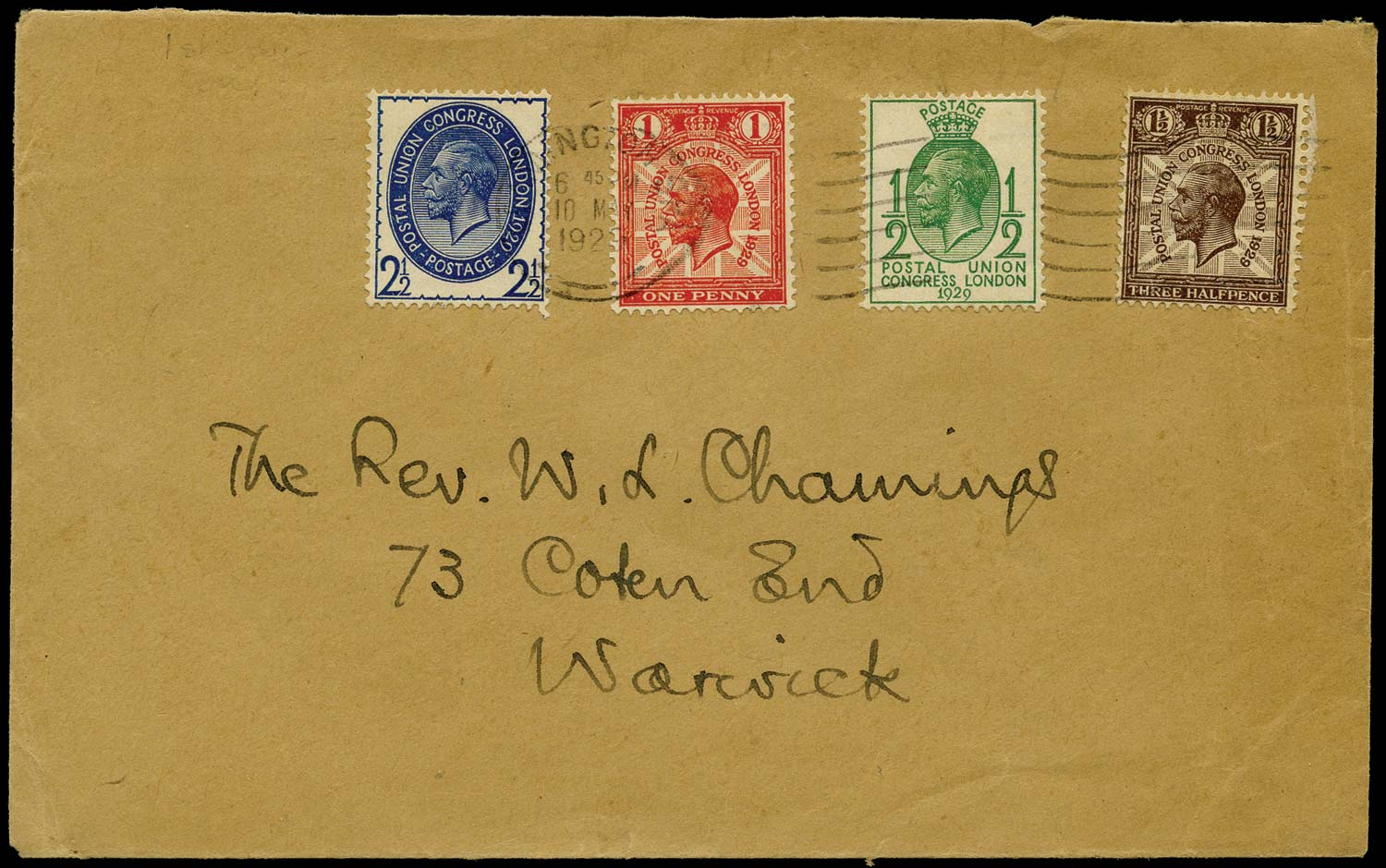 GB 1929  SG434/7 Cover - FDC