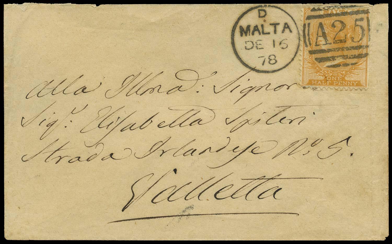 MALTA 1878  SG10 Cover