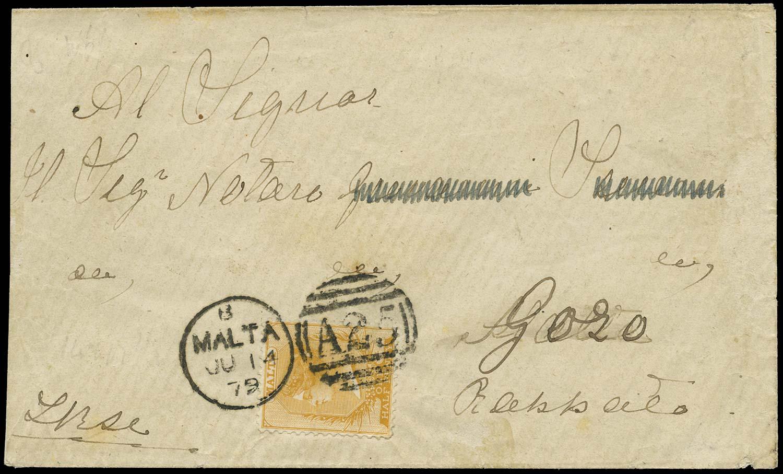 MALTA 1879  SG17 Cover