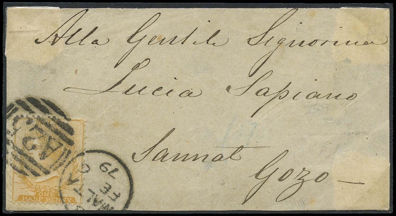 MALTA 1879  SG16 Cover
