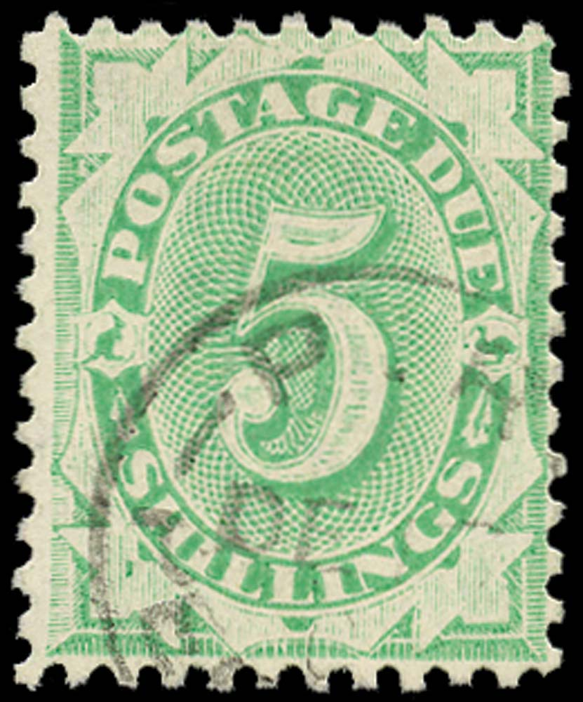 AUSTRALIA 1902  SGD42 Postage Due 5s emerald-green perf 11
