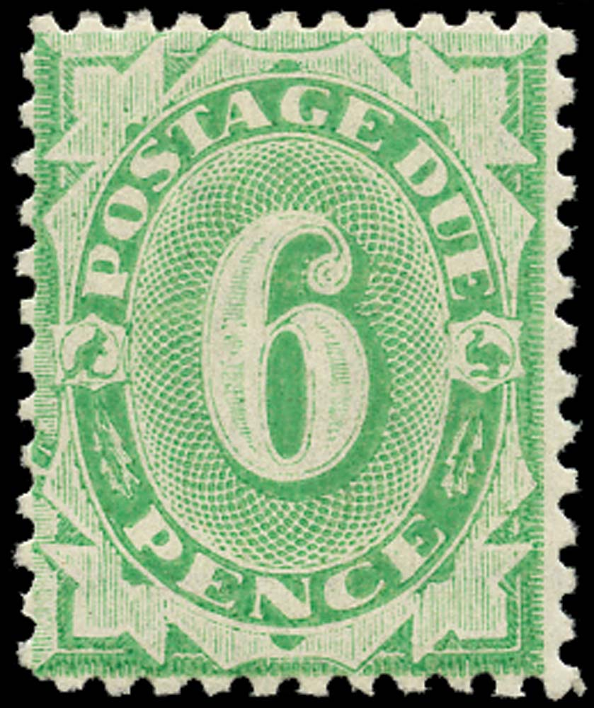 AUSTRALIA 1902  SGD40 Postage Due 6d emerald-green perf 11
