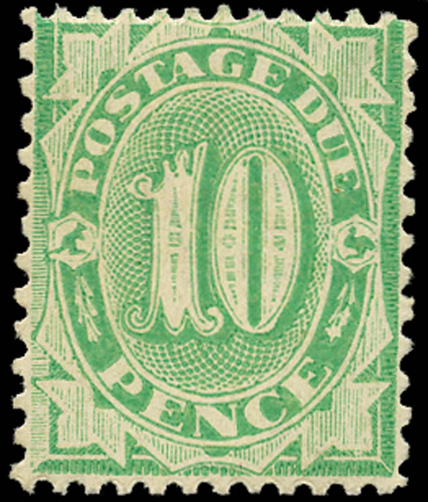 AUSTRALIA 1902  SGD30 Postage Due 10d perf 11½, 12 compound 11