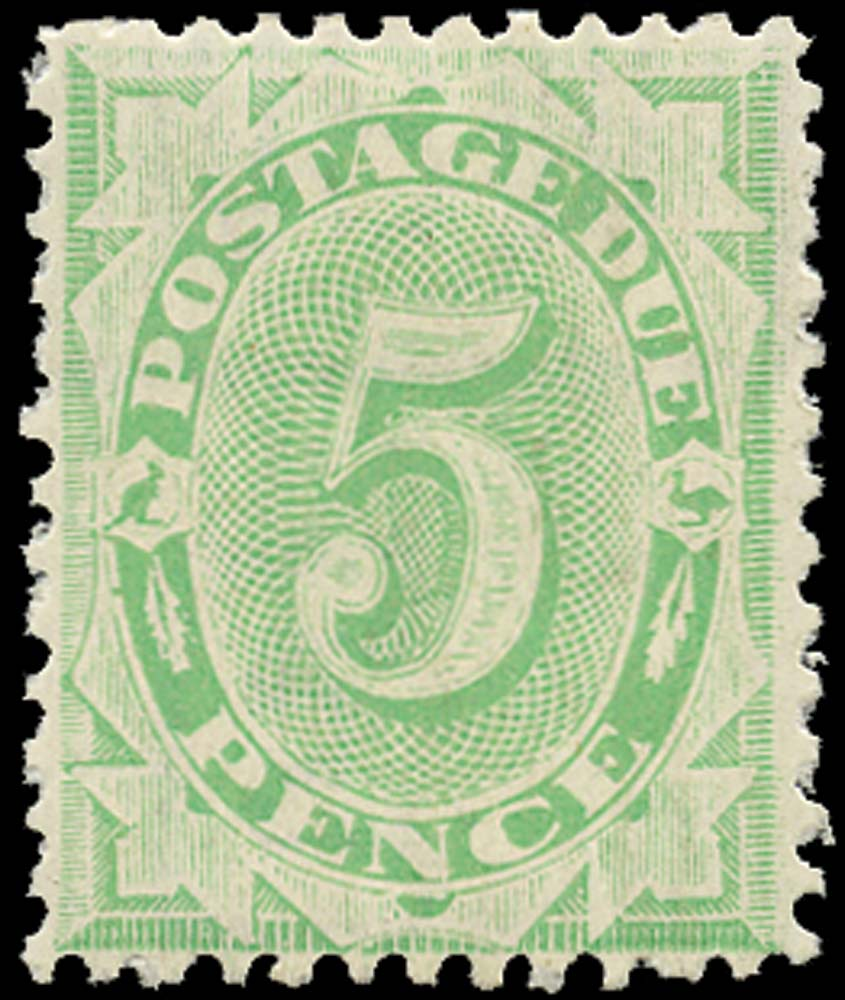 AUSTRALIA 1902  SGD17 Postage Due 5d emerald-green perf 11½, 12