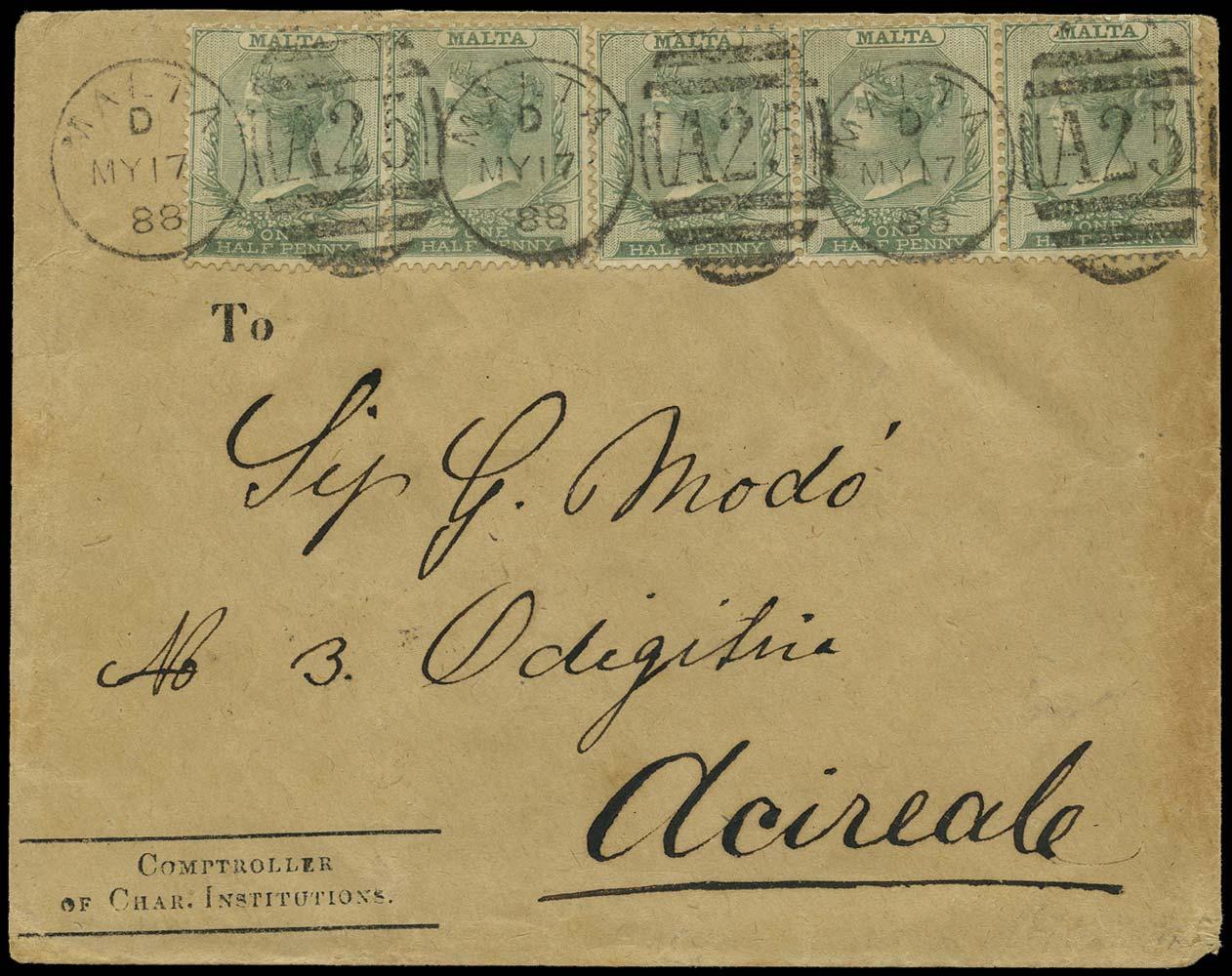 MALTA 1888  SG20 Cover