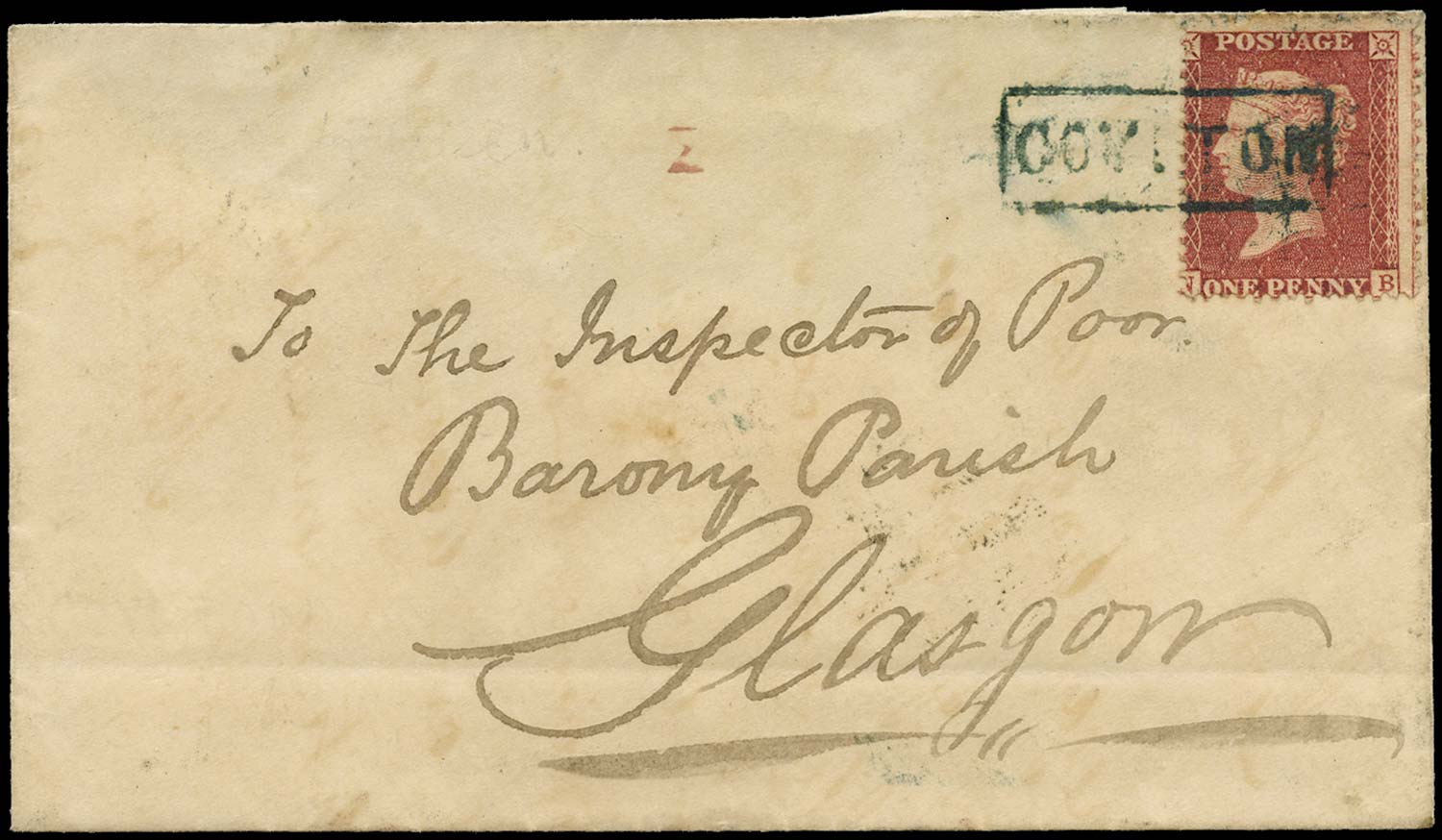GB 1858  SG40 Pl.48 Cover