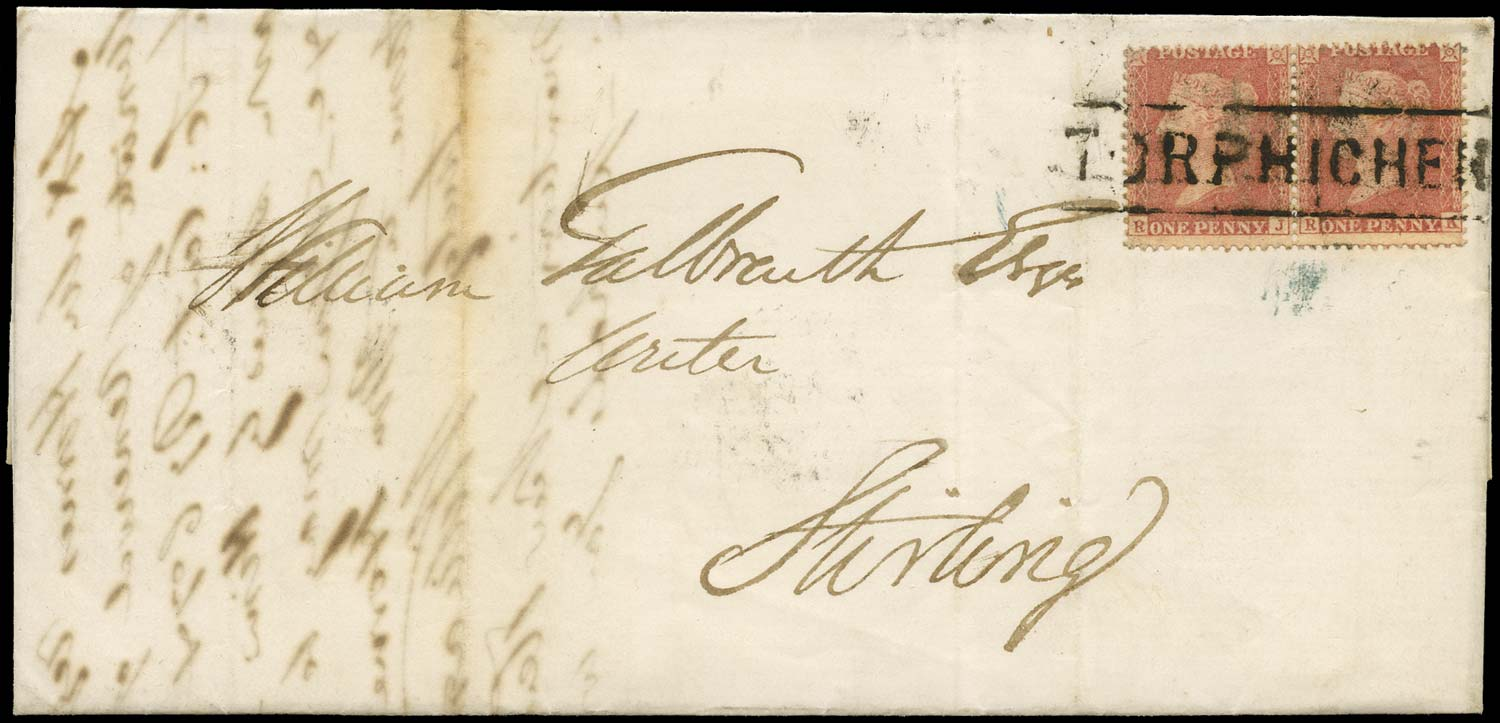 GB 1857  SG38var Pl.31 Cover