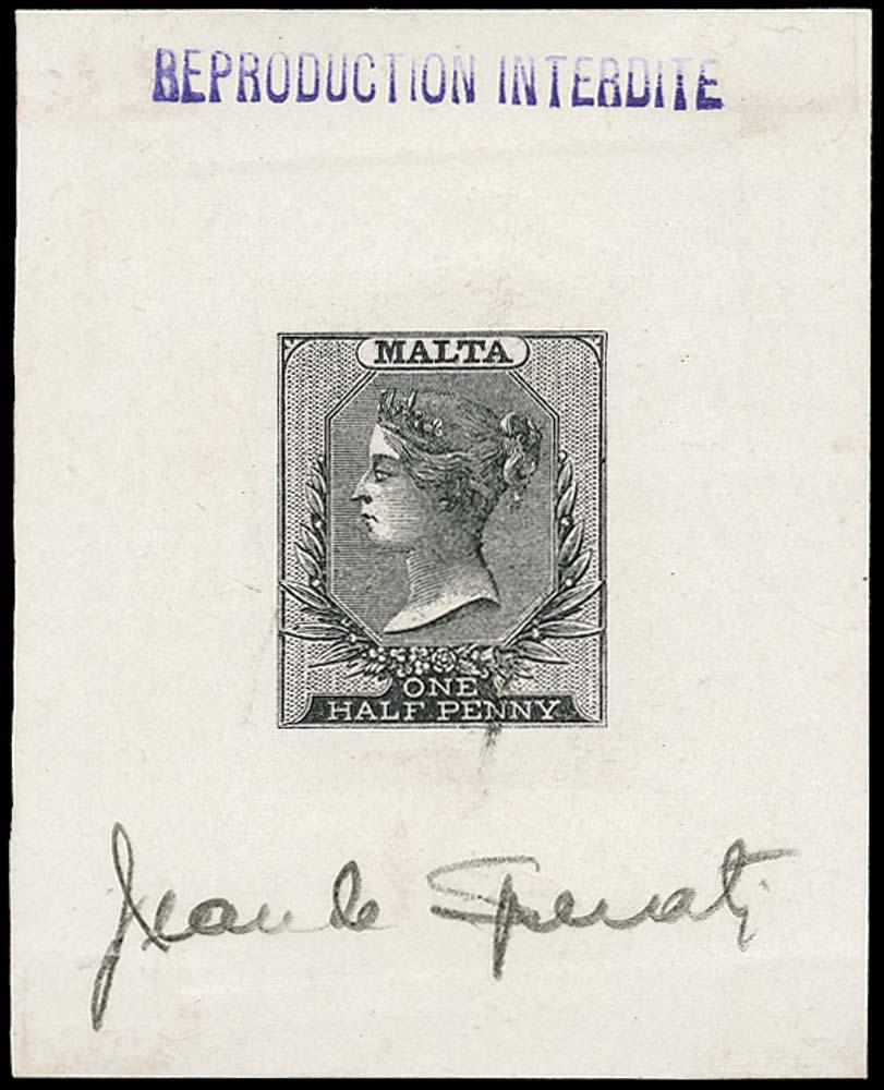 MALTA 1860  SG1 Forgery