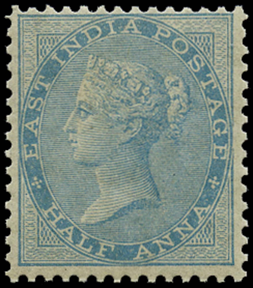INDIA 1856  SG38 Mint ½a pale blue no watermark unmounted