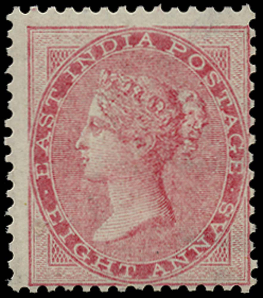 INDIA 1856  SG49 Mint 8a pale carmine no watermark unmounted