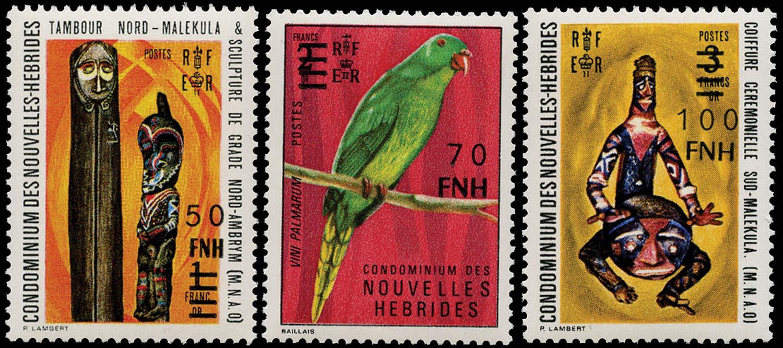 NEW HEBRIDES 1977  SGF247/55 var Mint unissued Port Vila surcharges
