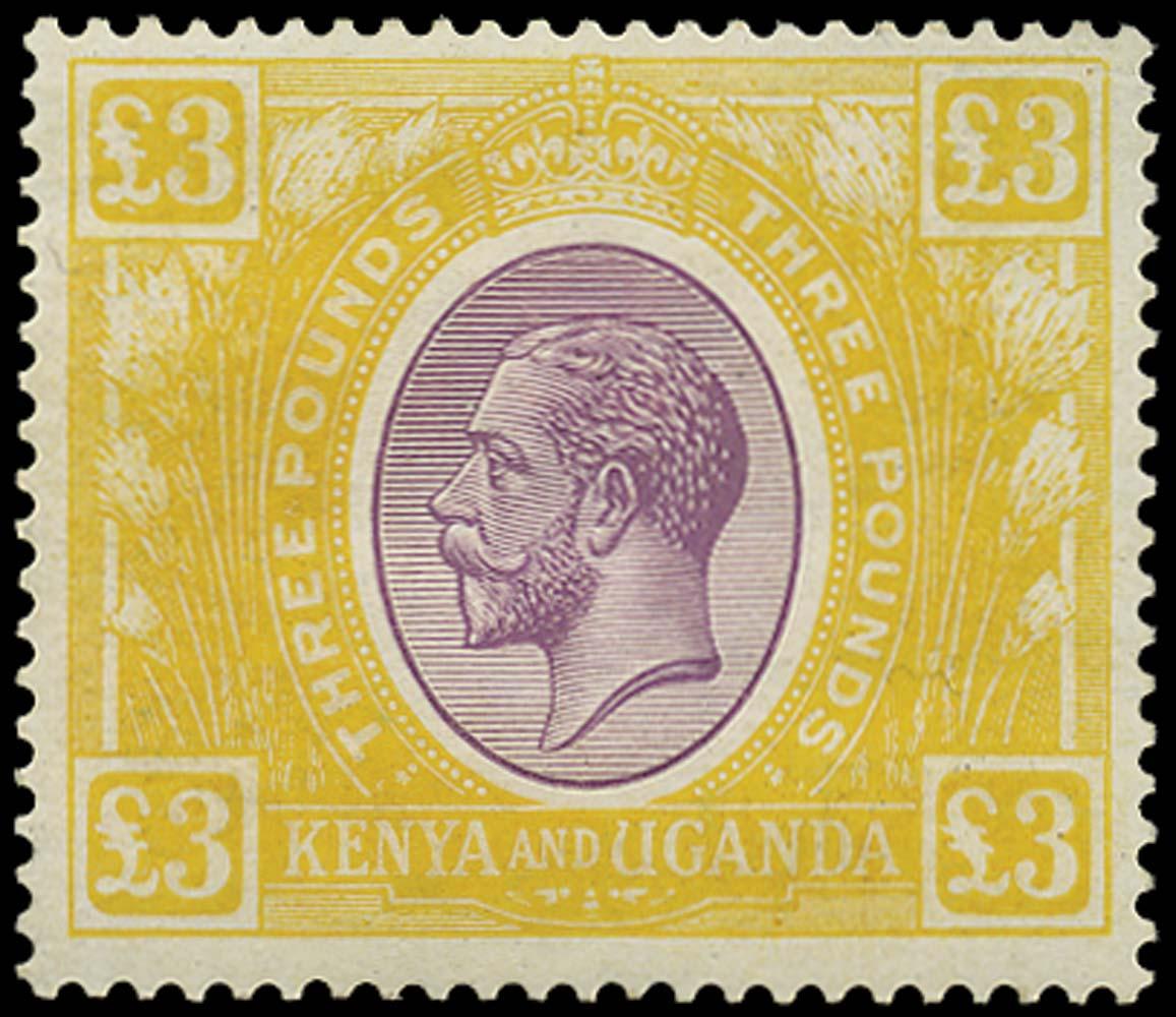 KUT 1922  SG97 Mint £3 purple and yellow