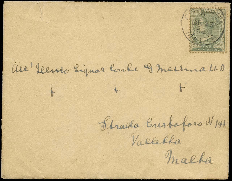 MALTA 1894  SG20 Cover