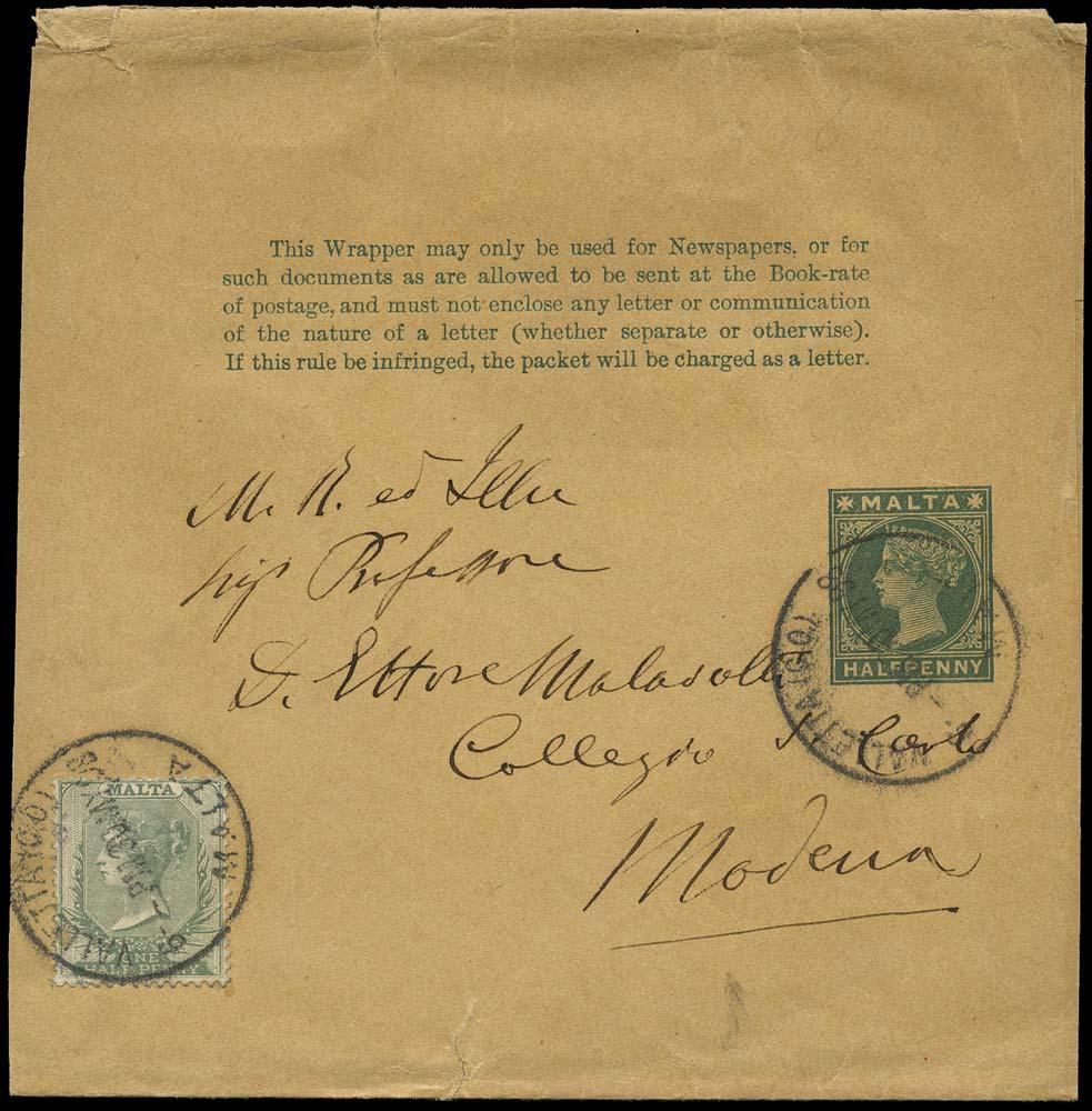 MALTA 1898  SG20 Cover
