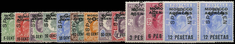MOROCCO AGENCIES 1907  SG117/23 Specimen