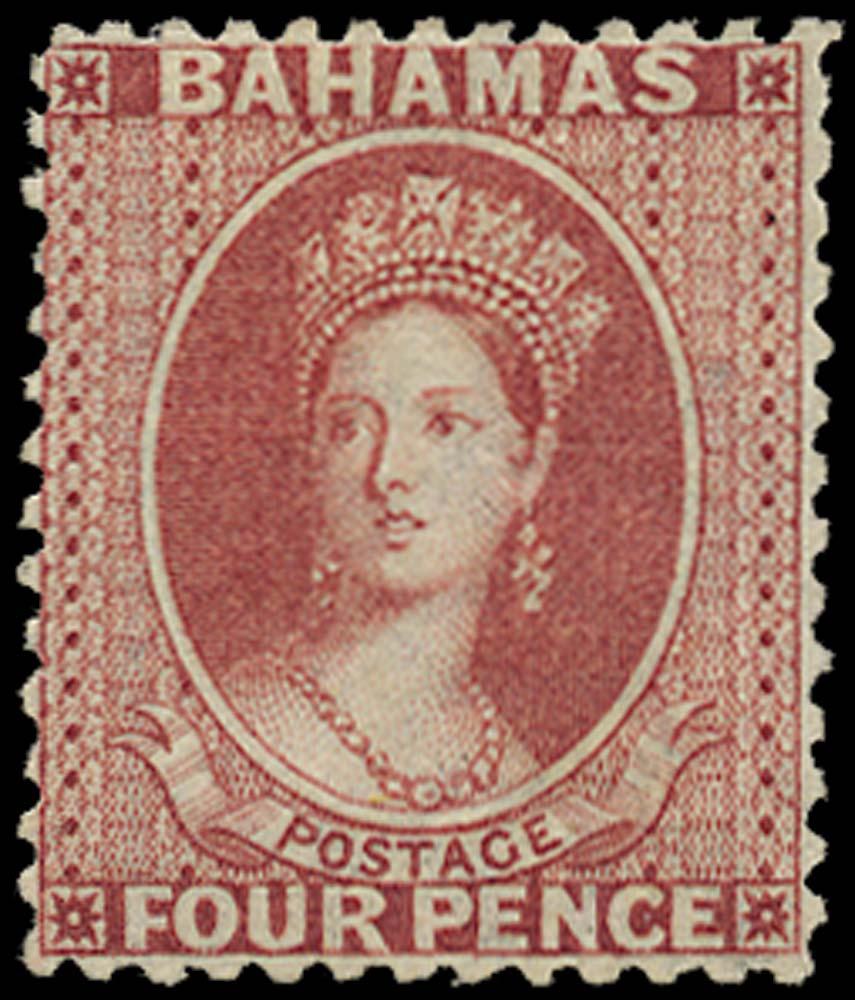 BAHAMAS 1863  SG28 Mint 4d brownish rose perf 12½
