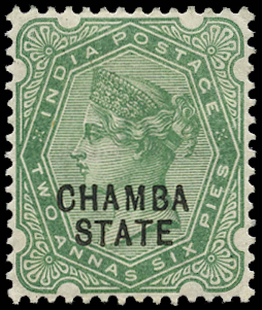 I.C.S. CHAMBA 1887  SG7 Mint