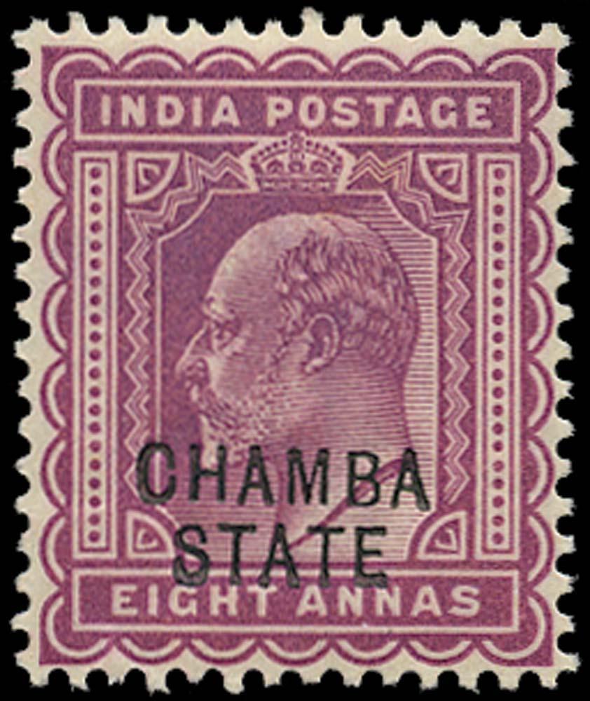I.C.S. CHAMBA 1903  SG38 Mint