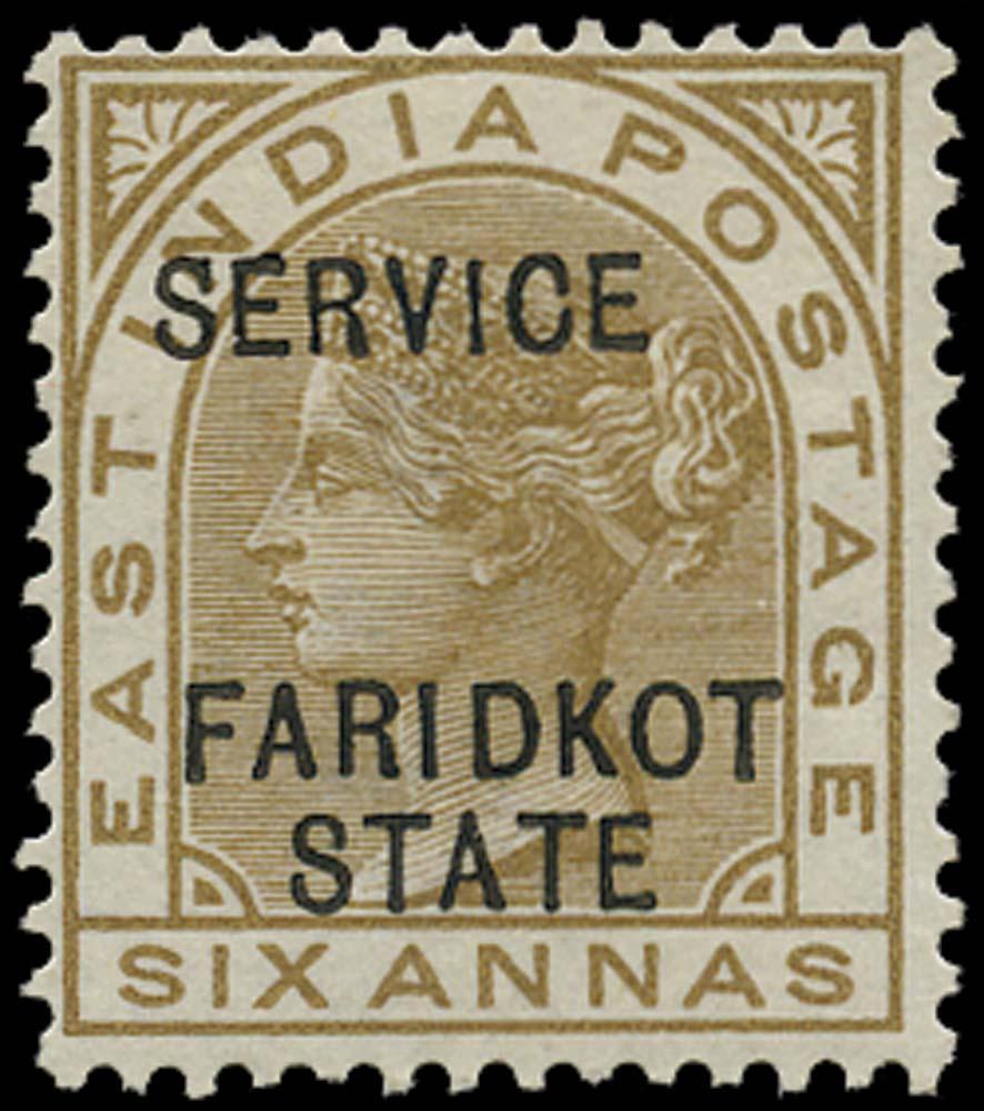 I.C.S. FARIDKOT 1887  SGO11 Official