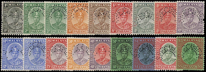 MALAYA - PAHANG 1935  SG29s/46s Specimen