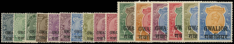 I.C.S. GWALIOR 1928  SG86/101 Mint