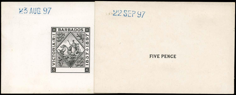 BARBADOS 1897  SG120 Proof Diamond Jubilee 5d die proofs