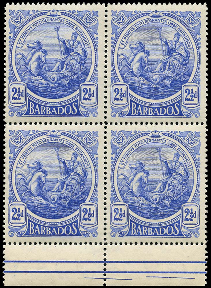 BARBADOS 1916  SG185y Mint 2½d watermark inverted and reversed