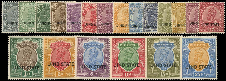 I.C.S. JIND 1927  SG84/103 Mint