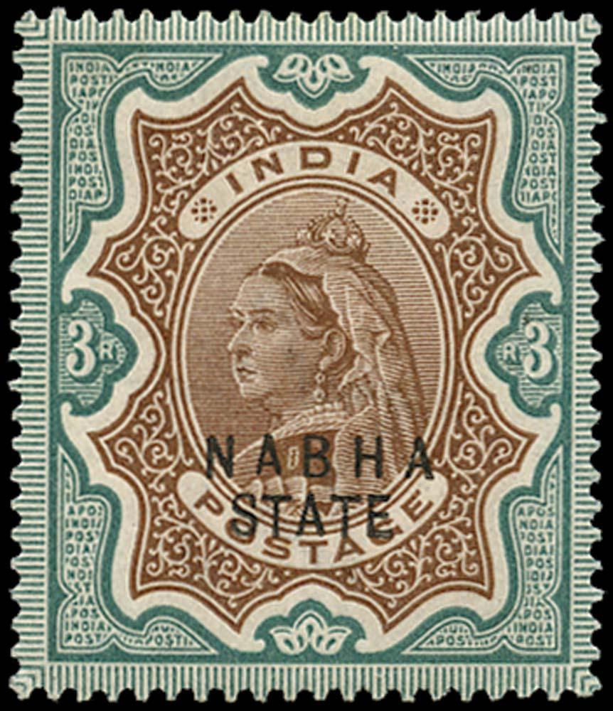 I.C.S. NABHA 1885  SG32 Mint